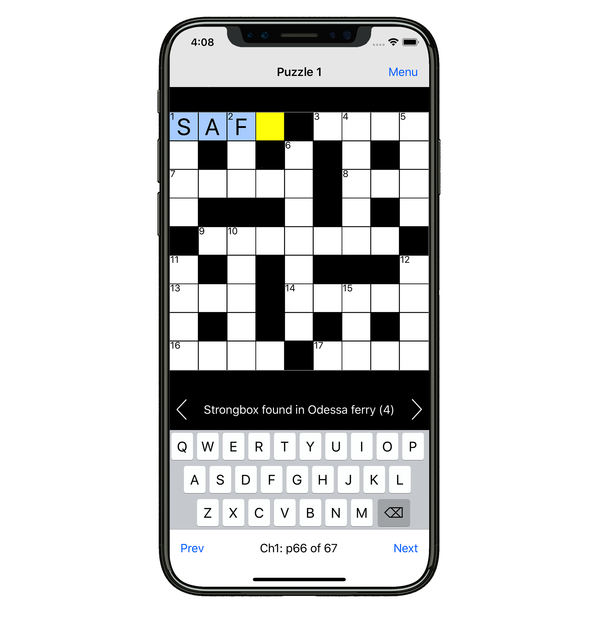 mobile phone download crossword clue